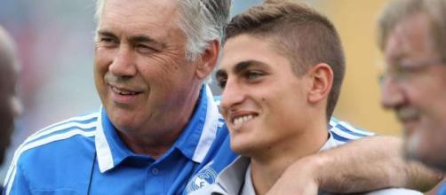 Marco Verratti et Carlo Ancelotti