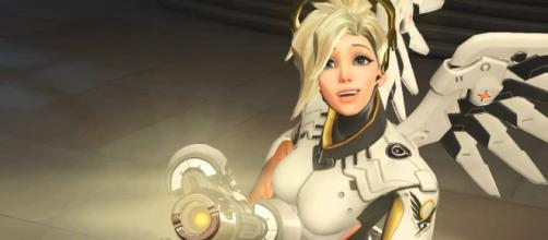 'Overwatch' hero Mercy. (image source: YouTube/Overwatch)