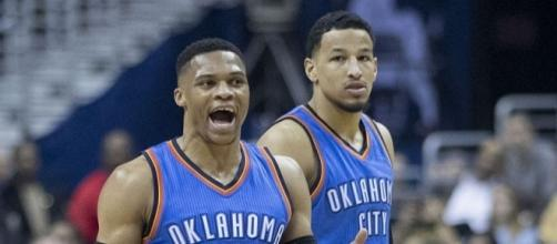 Russell Westbrook has yet to sign the five-year $207-million contract extension -- Keith Allison via WikiCommons
