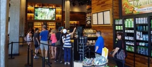 Starbucks in Downtown Disneyland. (Image Credit: Patrick Pelletier / Wikimedia)