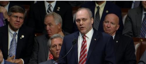 Steve Scalise returns to the House floor [ Image via YouTube: Washington Post]