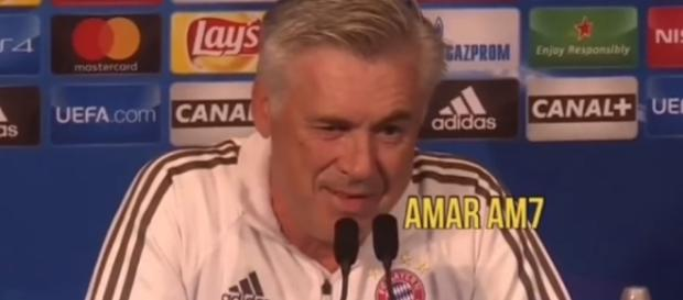 arlo Ancelotti Angry Reaction after being Sacked as Bayern Munich Manager - Image- Amar AM7 | YouTube