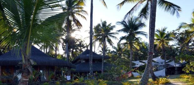Casas da comunidade de Piracanga, onde a moradia é compartilhada