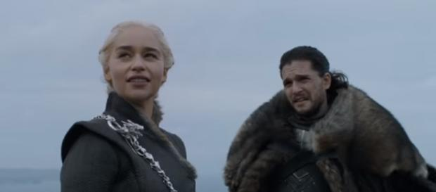 Game of Thrones: Cast Commentary on Jon, Daenerys, and Jorah Meeting (HBO). (Image Credit: GameofThrones/YouTube)