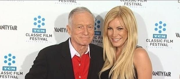 Hugh and Crystal Hefner were married for 5 years before his death [Image: Inside Edition/YouTube screenshot]
