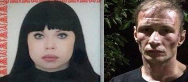 O casal canibal russo Natalia Baksheeva, de 42 anos, e Dmitry Baksheev, de 35