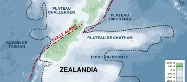 Zealandia's history could soon be told based on the sediments extracted from its submerged landmass. (Image Credit: Sémhur / Wikimedia Commons)