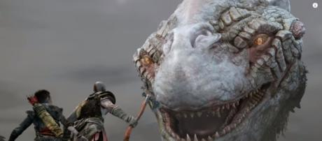 """""""God of War"""" developers reveal the complexity of creating the Midgard Serpent - YouTube/PlayStation"""