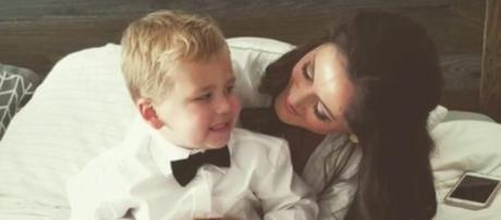 Jenelle Evans and son, Kaiser. [Grace Report/YouTube screencap]