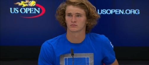 Alexander Zverev during a press conference at the 2017 US Open. [Image Credit: US Open Tennis Championships/YouTube]