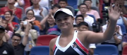Ashleigh Barty in Wuhan, China/ Photo: screenshot via WTA official channel on YouTube