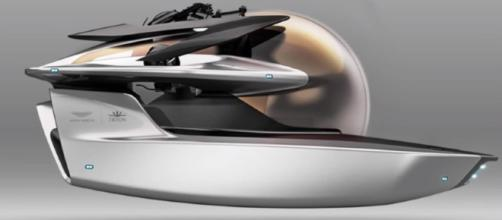 Aston Martin unveiled the concept of submersible [Image Credit: Perfect/YouTube]