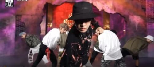 BTS' MIC Drop performance. BTS BEING BTS/YouTube Screen cap