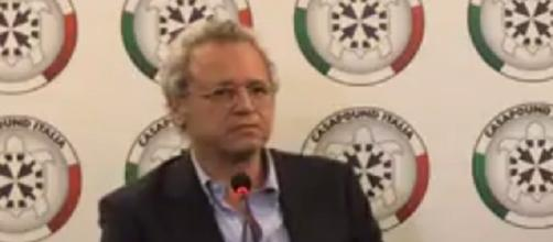 Enrico Mentana interviene a Casapound Italia
