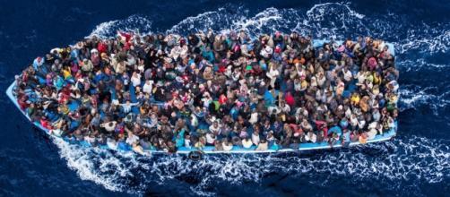 Les migrants en mer Méditerranée
