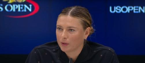Maria Sharapova during a press conference at the 2017 US Open/ Image - US Open Tennis Championships channel | YouTube