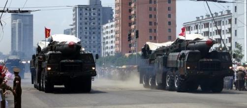 North Korea's ballistic missile. [Image Credit: Stefan Krasowski/Wikimedia Commons]