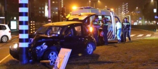 Agüero sofre acidente de carro enquanto voltava de show