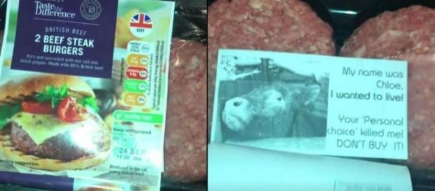 """Ao comprar hambúrgueres, Camilla Moser foi confrontada por uma mensagem acusatória da """"vaca Chloe"""" (Crédito:Twitter/Shane Osborne/Deadline News)"""
