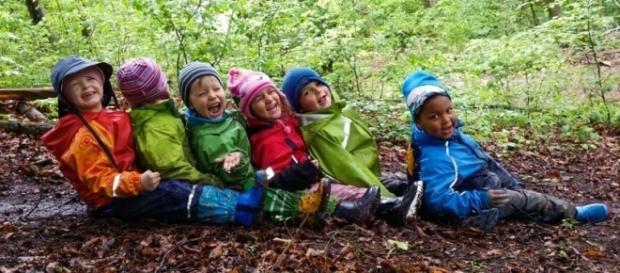 Crianças constantemente estimuladas a explorarem o meio ambiente