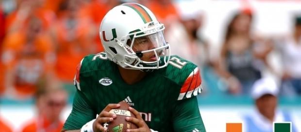 Malik Rosier leads the 2-0 Miami Hurricanes into a Friday night battle against 4-0 Duke Blue Devils. [Image Credit: ACC Digital Network/YouTube]
