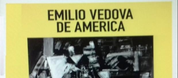 """Manifesto della mostra """"Emilio Vedova De America"""" ai Magazzini del Sale e allo Spazio Vedova"""