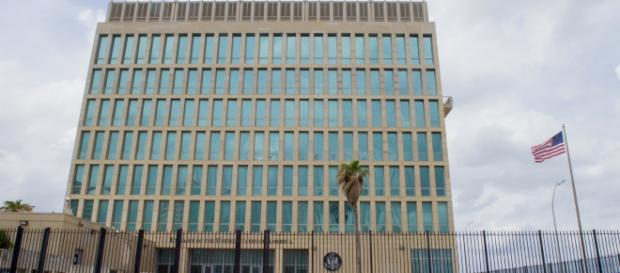 The US embassy in Havana, Cuba. Source;commons.wikimedia.org