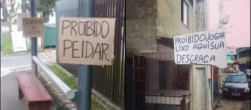 As placas bizarras encontradas no Brasil.