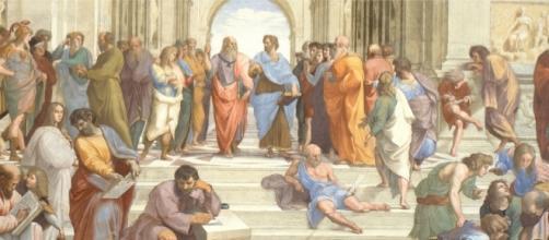 La escuela de Atenas de Rafael Sanzio (1510 y 1512).