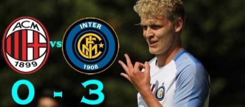 Milan-Inter 0-3: tripletta di Jens Odgaard