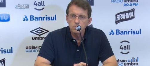 Odorico Roman em entrevista no Grêmio