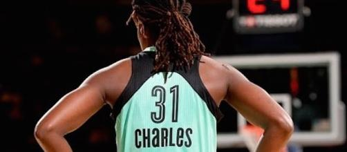 Tina Charles' double-double performance on Sunday helped the Liberty earn the No. 3 seed for the WNBA Playoffs. [Image via WNBA/YouTube]