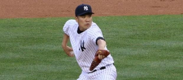 Masahiro Tanaka yielded five hits with two walks and five strikeouts vs. Red Sox -- Arturo Pardavila III via WikiCommons