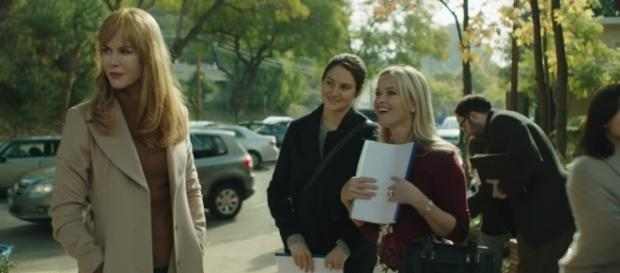 """Nicole Kidman, Shailene Woodley, and Reese Witherspoon shine in """"Big Little Lies"""" - YouTube/HBO channel (screenshot)"""