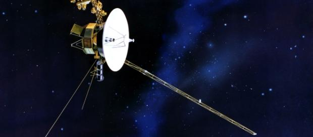 Voyager 1 orbiting the solar system. Source;www.en.wikipidia.org