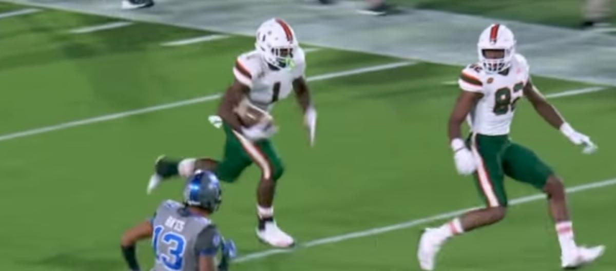 Ncaa Football Scores Miami Hurricanes Rout Duke 31 6