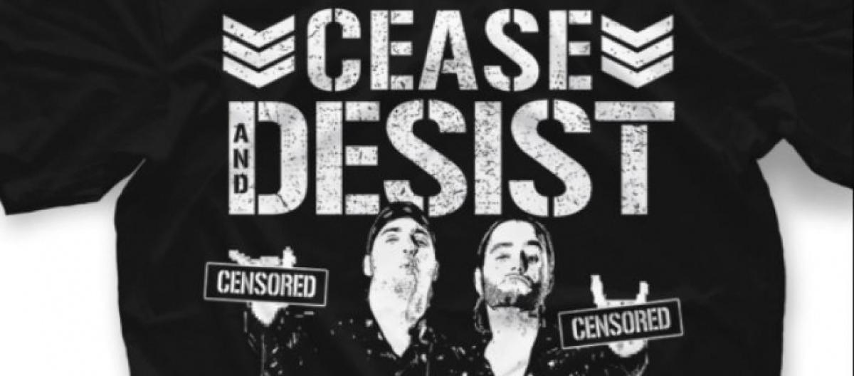 young bucks mock wwe cease and desist letter with new shirts