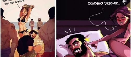 Ilustrações mostram como é a vida de casado do ponto de vista do homem