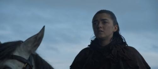 Arya Stark arrives at Winterfell, Game of Thrones-- [Ravenbreath / YouTube screencap]