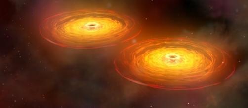Black Hole Merger 2 [Image by NASA/CXC/A.Hobart|Wikimedia Commons| Cropped | Public Domain ]