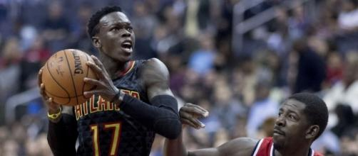 Dennis Schroder with the drive. (Image Credit: Keith Allison/Flickr)