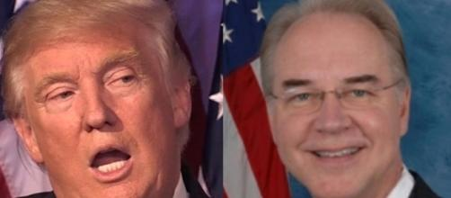 Donald Trump and Tom Price, via Twitter