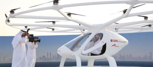 Imprensa registrando o Volocopter