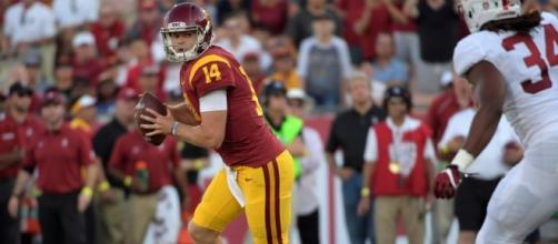 Quarterback Sam Darnold will try to lead the No. 5 USC Trojans to a road win over Washington State on Friday. [Image via Pac-12 Networks/YouTube]