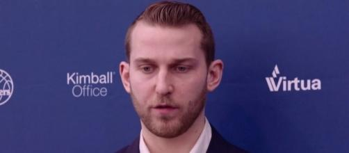 The 76ers are yet to negotiate with Nik Stauskas for an extension. [Image Credit: Philadelphia 76ers/YouTube]