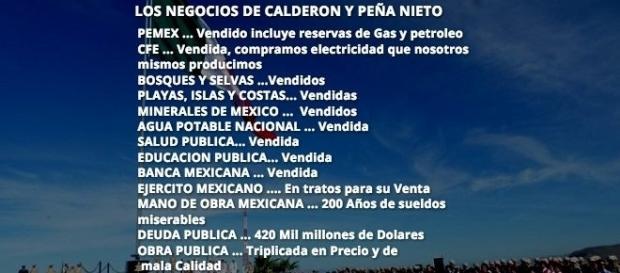 Con precisión quirúrgica Calderón y Peña Nieto vendieron los recursos de la nación mexicana.
