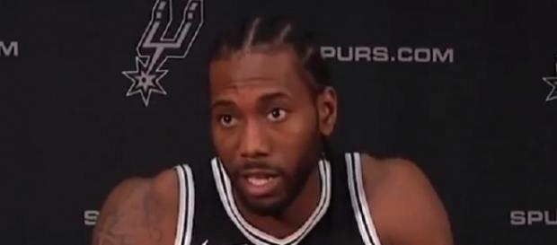 Kawhi Leonard averaged 25.5 points per game last season for the Spurs -- bballNeverEnds via YouTube