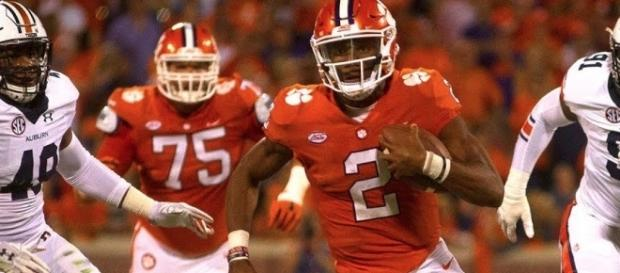 The No. 2 Clemson Tigers invade Blacksburg for a meeting with No. 12 Virginia Tech on Saturday night. [Image via ACC Digital Network/YouTube]