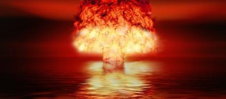 Photo of an atomic bomb test. photo credit pixabay.com/en/atomic-bomb-nuclear-weapons-2621291/