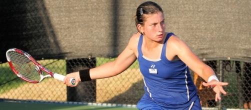 Anastasija Sevastova will play Sloane Stephens in the quarterfinals -- Mark Woods via WikiCommons